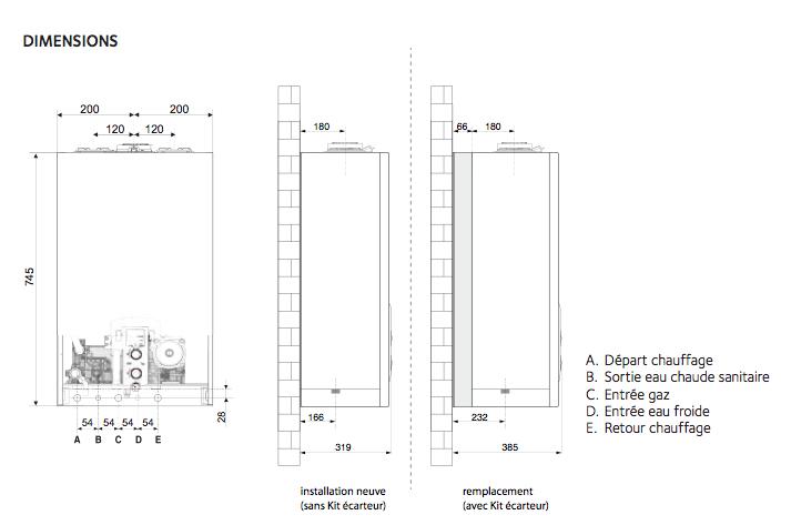 chaudi re gaz chaffoteaux inoa evo 25 ff compl te en adaptation saunier duval. Black Bedroom Furniture Sets. Home Design Ideas