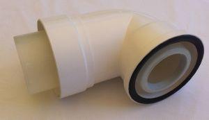 coude 90 pour terminal ventouse horizontal chaudiere intergas condensation. Black Bedroom Furniture Sets. Home Design Ideas
