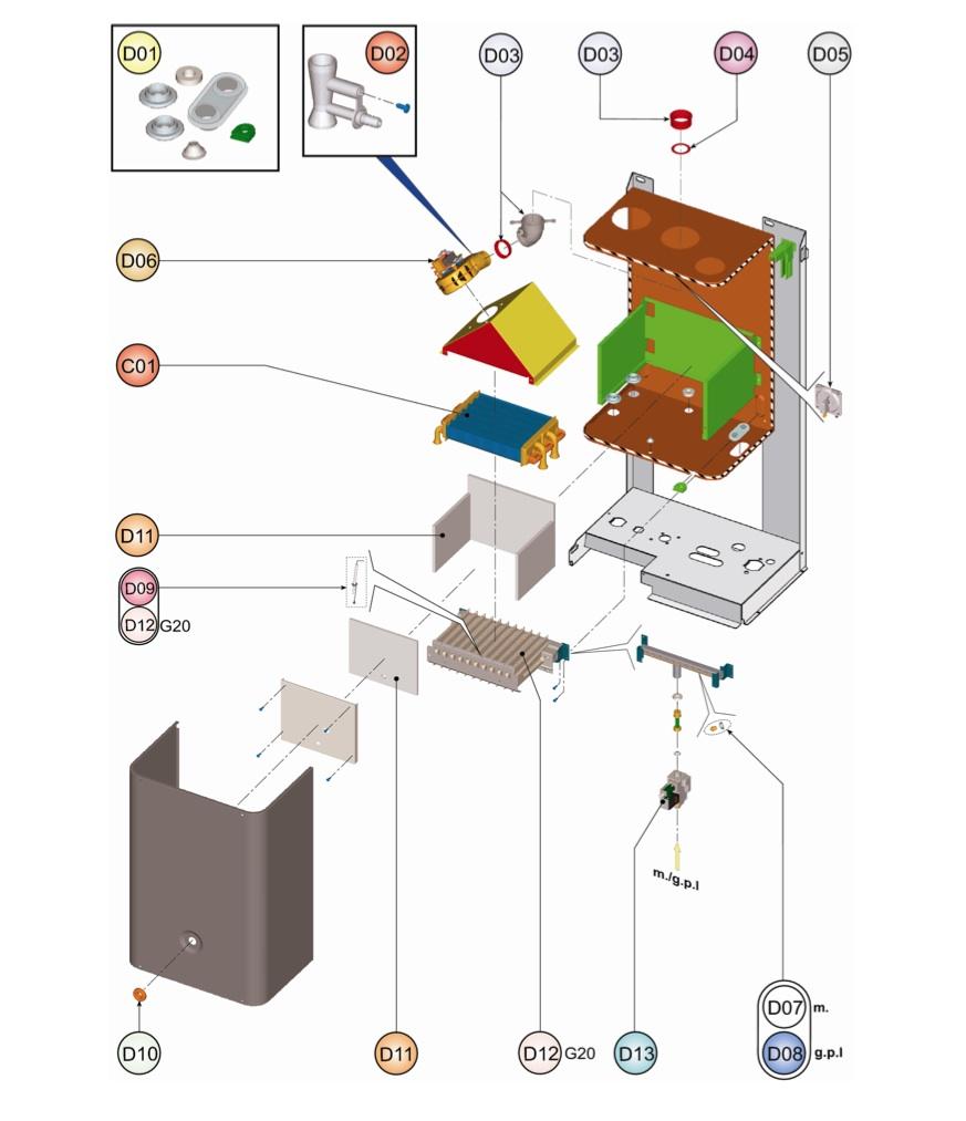 Ferroli Domiproject F 24 Service Manual