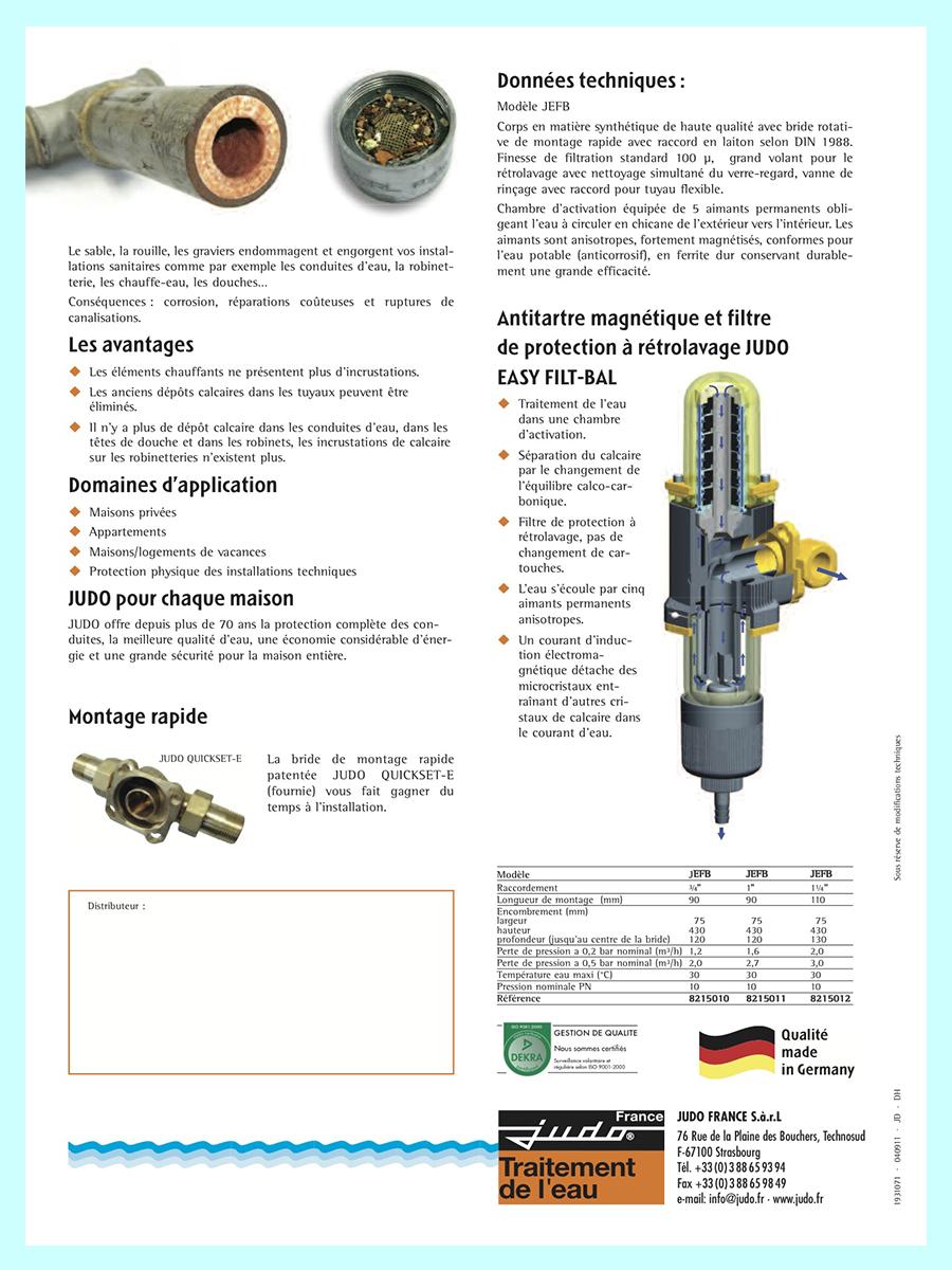 Filtre antitartre magnetique easy filt bal judo anticalcaire - Filtre anti calcaire magnetique ...