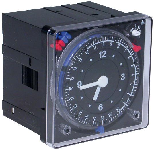 Horloge analogique 72x72 mm prog jour hebdo ref 7815355 chaudi re viessmann - Horloge chauffe eau ...