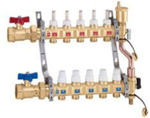 Collecteur pcbt caleffi 5 circuits 1 1 4 for Bagno 1 5 x 2