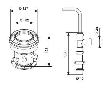 coude 45 pour ventouse concentrique horizontale r f 85093d saunier duval. Black Bedroom Furniture Sets. Home Design Ideas
